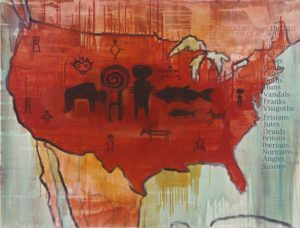 12. The Browning of America 2000, oil on canvas, 36 x 48