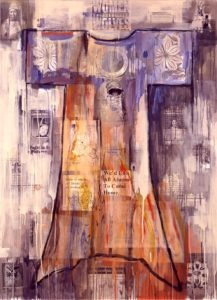 5. Flathead Dress 1998, oil on canvas, 60 x 50