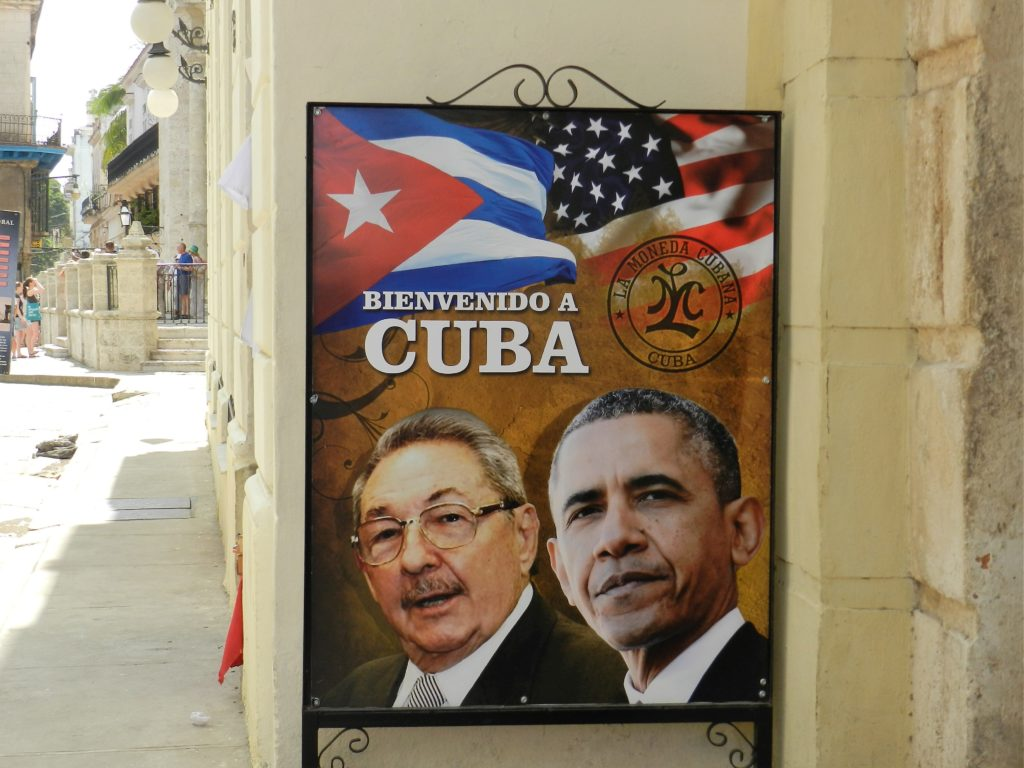 Raúl Castro and Barack Obama poster in Havana – commemorating the first visit to Cuba by a sitting US President in 88 years