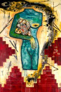 6. Fear 2004, oil on canvas, 72 x 48